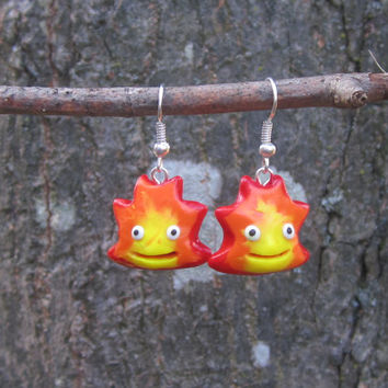 Studio Ghibli Inspired - Calcifer Earrings!