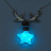 "Glo-worm ""Swallows"" Necklace"