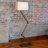 Zig Zag Wood Floor Lamp