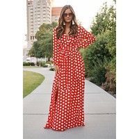 A Dream Come True Maxi Dress (Red)