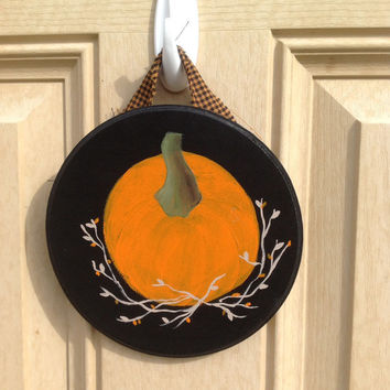 Pumpkin Sign - Fall Decor - Home Primitive Decor