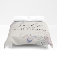 fresh flower market Duvet Cover by sylviacookphotography