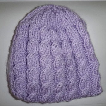 Cabled Hat  Made to Order by ConchoPurl on Etsy