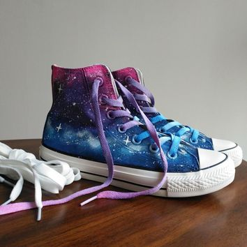 Free shipping women Casual shoes Harajuku tie-dyeing lilac gradient universal platform