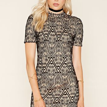 Medallion Lace Bodycon Dress
