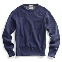 Pocket Sweatshirt in Mast Blue