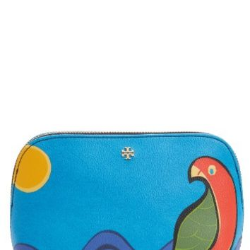 Tory Burch Kerrington Parrot Cosmetics Case | Nordstrom