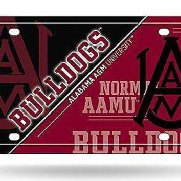 ICIKIHN Alabama A&M Bulldogs NSD150502 Metal Aluminum License Plate Tag University