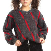 Vintage 80's Red Lightning Sweater - One Size Fits Many