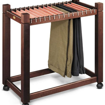 "Pant Trolley with cedar hangers (Dark Chocolate) (26.75""H x 29""W x 16.8""D)"