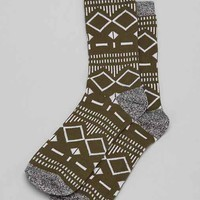 Grey Geo Pattern Sock-