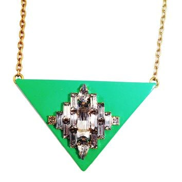 Triangle Jewel Turquoise Necklace