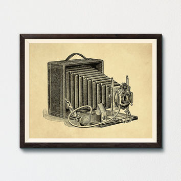 Vintage Camera Printable, Photography Illustration 1800s Cameras Antique Print Instant Download, Photographer Gift, Vintage Wall Art Print