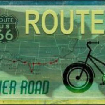 Route 66 Bike  Sign Tag
