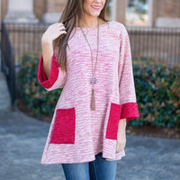Let's Be Friends Tunic, Red