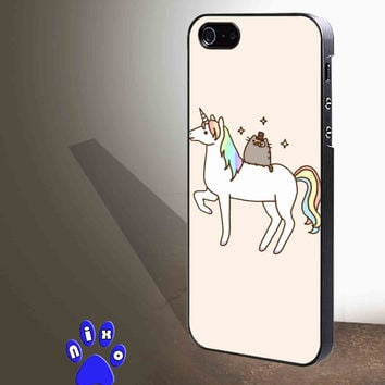 Pusheen Cat With Unicorn for iphone 4/4s/5/5s/5c/6/6+, Samsung S3/S4/S5/S6, iPad 2/3/4/Air/Mini, iPod 4/5, Samsung Note 3/4 Case **