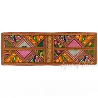 """58"""" Suzani Patchwork Embroidered Wall Hanging Tapestry"""