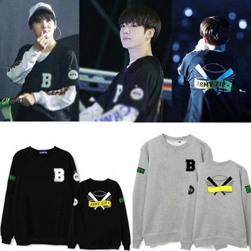 New Kpop BTS bangtan boys concert in Janpan same style Unisex fleece sweatershirt Army hoody cotton hoodies