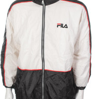 Vintage Fila Windbreaker Hip Hop Rap Style Big Logo Spell Out Color Block White/Black/Red/Blue Size M