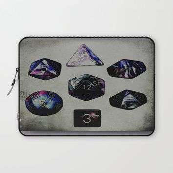DUNGEON DICE Laptop Sleeve by Jessica Ivy
