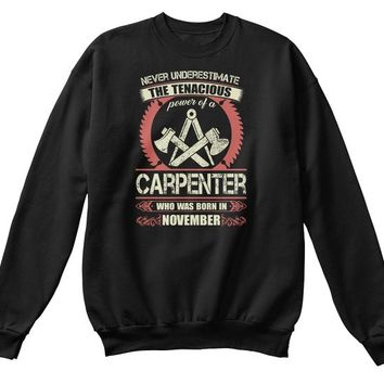 Carpenter Born in November T Shirts