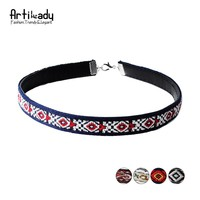 Artilady leather boho choker necklace fashion multicolor Bohemia chokers necklace for women jewelry party