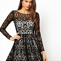 Lipsy | Lipsy Lace Skater Dress at ASOS