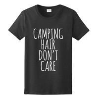 Camping Hair Don't Care, Women's Graphic T-Shirt
