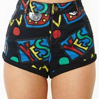 Lazy Oaf  Yes Denim Shorts