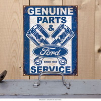 Ford Genuine Parts Service Pistons Tin Sign