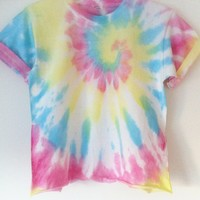 Tees To Dye For — Sorbet Swirl Cropped Top (Pre-order 4-5 working days)