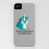 Neigh Sayer iPhone & iPod Case by David Olenick