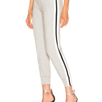 Norma Kamali Side Stripe Jog Pant in Heather Grey | FWRD