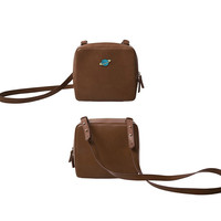 YiZi Leather Mini Crosbody Bag/Brown Planet