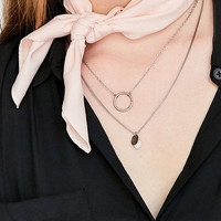 Silky Mini Square Scarf - Urban Outfitters