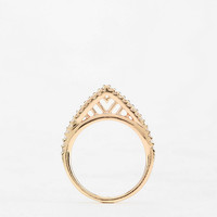 On Point Rhinestone Ring  - Urban Outfitters