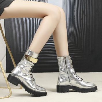 GZ Women Casual Shoes Boots fashionable casual leather