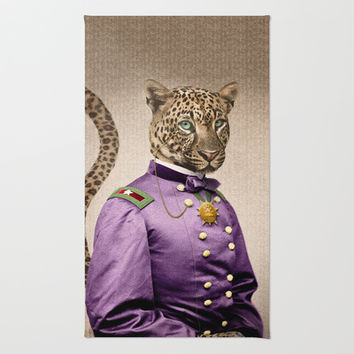 Grand Viceroy Leopold Leopard Area & Throw Rug by Peter Gross
