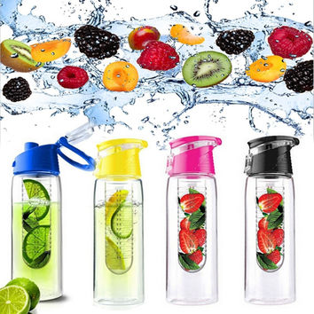 700ML Flesh Fruit Infusion Water Bottle - Leak-proof