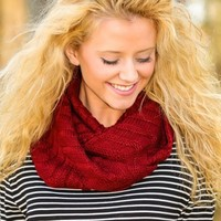 Ancient History Infinity Scarf-Burgundy