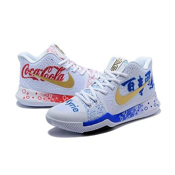 Nike Kyrie 3 Pepsi Cola X Coca Cola Basketball Shoe | Best Deal Online