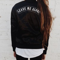 KOSTA LEAVE ME ALONE BOMBER JACKET