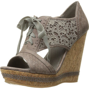 Not Rated Women's Addylin Wedge Sandal Grey 10 B(M) US '