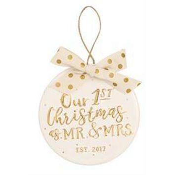 Mud Pie-Our First Christmas Ornament, Gold