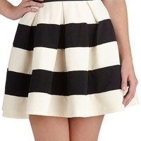 Stripe It Lucky Skirt