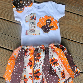 first thanksgiving outfit, 1st thanksgiving outfit, first birthday outfit, baby girls fall outfit, first turkey day, 1st gobble, cake smash