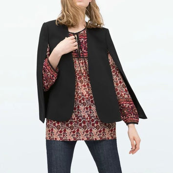 Summer Women's Fashion Scarf Blazer Jacket [6512943687]