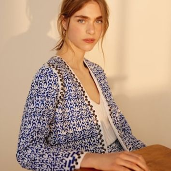 Embroidered cotton jacket - Women | MANGO USA