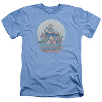 Masters of the Universe He Man and Crew Light Blue Heathered Duo-Blend T-Shirt
