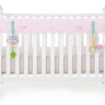 Pink Organic Crib Rail Cover